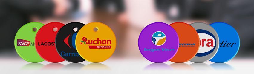 Jeton de caddie personnalisable goodies idéal pour logo